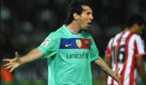 Barcelona 8 Almería 0 con 3 goles de Messi
