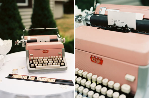 Dear You Love Me Vintage Typewriter Guestbook