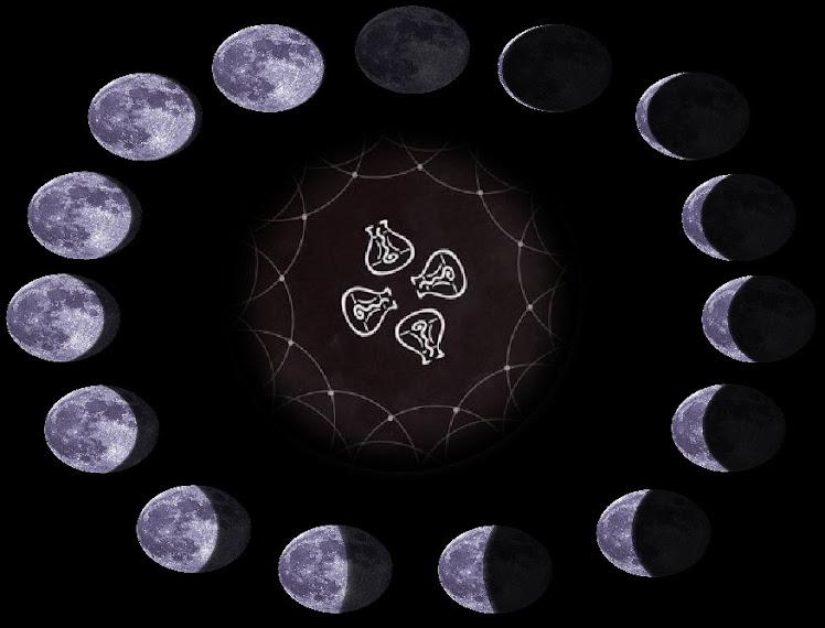 tarot menstrual lunar/ herramienta sagrada femenina
