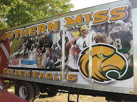trailer with Southern Miss football pictures