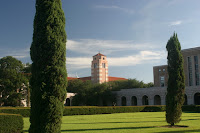 Clock tower at Rice University.