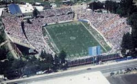 Aerial view of San Jose football game during the day.