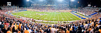 Panoramic view of San Jose State football stadium during a game.