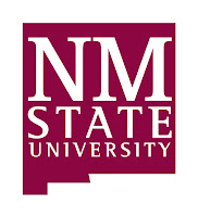 New Mexico State University logo in state shaped sign.