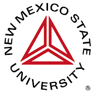 New Mexico State University seal with triangle logo.