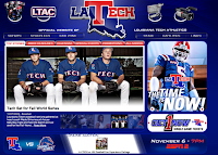 LA Tech computer wallpaper background.