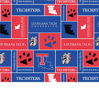 checkered Louisiana Tech logos for desktop background.