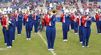 LA Tech marching band at football game.