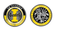 Round University of Idaho logos.