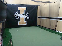 Golf ball hitting area for Idaho Vandals.