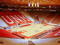 UNM empty basketball arena.