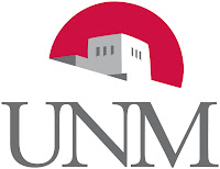 UNM logo with sunrise.
