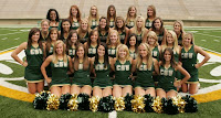 Team picture of Colorado State cheerleaders.