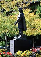 Joseph Smith statue on BYU campus.