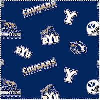 BYU Cougars pattern with logos.