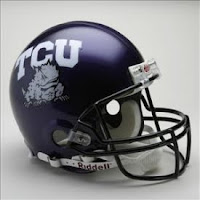 TCU purple football helmet.