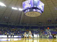 Texas Christian Horned Frogs basketball court.