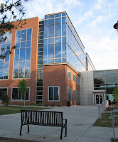 Brick building with glass exterior on Utah campus.