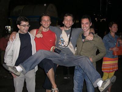 Toni, Berto, Diego y David