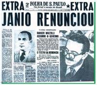 renúncia presidente Jânio Quadros