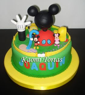Kaomi Tortas: Torta Casa Club de Mickey