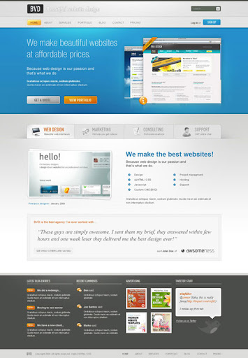 Design+a+Beautiful+Website+From+Scratch 40 PSD to XHTML, CSS Tutorials to Create Web Layouts