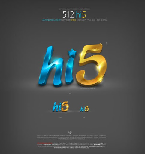 hi5+antialiasfactory+chethstudios Stunning Detailed Social Networks Icon Series by ~AntiAliasFactory