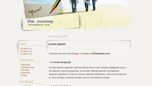The+Journey Blogger Toolbox: Fresh, Free and Stunning Blogger Templates