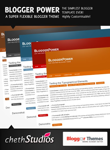 bloggerpower BloggerPower  A Super Flexible Blogger Template