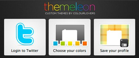 themeleon: The Coolest Twitter Profile Designer Website