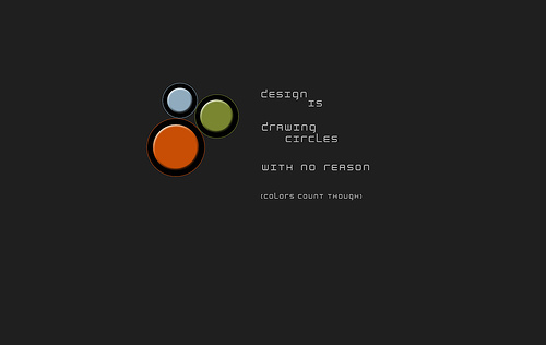"Design+Is+drawing+Circles+with+no+reason 70+ Super Creative Wallpapers ""About Design"""
