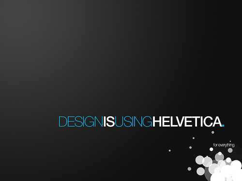 "Helvetica 70+ Super Creative Wallpapers ""About Design"""