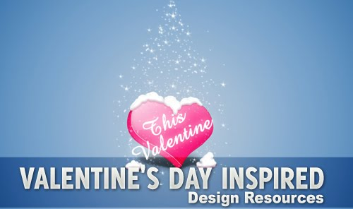Valentine%27s+Day+Inspired+Design+Resources Best of the Web: Design Community February 2010