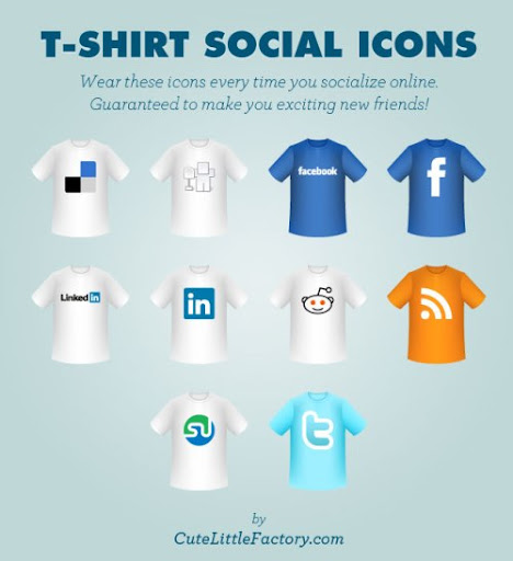 T shirt social icons title 10 Fresh and Unique High Quality Social Network Icon Sets