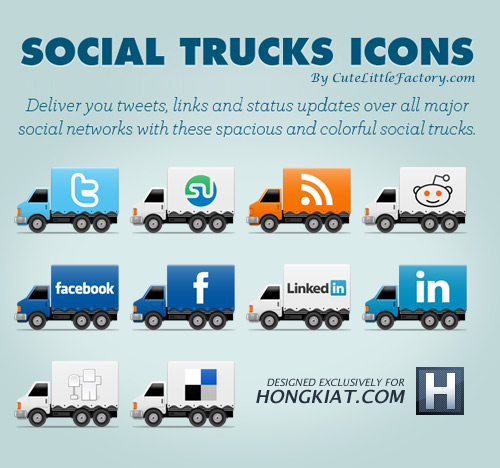 social truck icons 10 Fresh and Unique High Quality Social Network Icon Sets