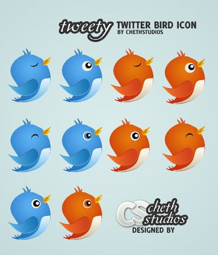 Tweety+Free+Twitter+Bird+Icon+Pack+all+styles+download Best of the Web: Design Community March 2010