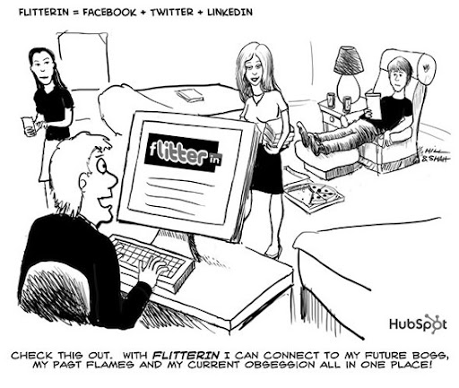 Flitterin+%3D+Facebook+%2B+Twitter+%2B+LinkedIn 40+ Hilarious Facebook Comic Strips