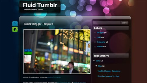 Tumblr+Blogger+template Fluid Blogger Template