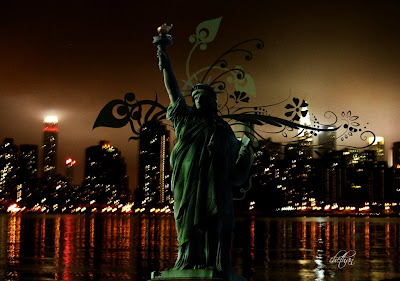 7 seven wonders of the world edited best snaps NYC night Statue of Liberty