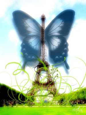 7 seven wonders of the world edited Eiffel Tower