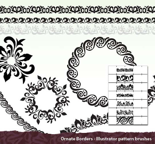 Ornate Borders by melemel A Huge Compilation of 1000+ High Quality Adobe Illustrator Brushes