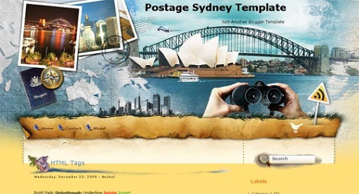 Postage+Sydney Huge Compilation of Best Blogger Templates Released in 2010 | Blogspot Toolbox