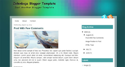 Zelenboja Huge Compilation of Best Blogger Templates Released in 2010 | Blogspot Toolbox