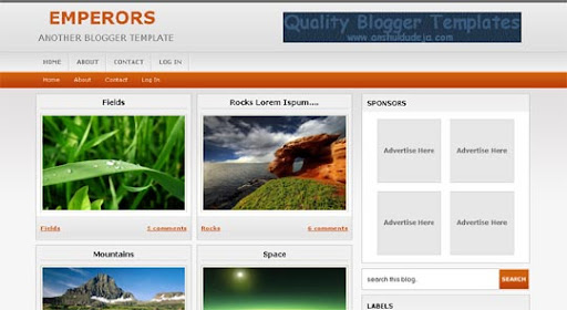 Emperors Huge Compilation of Best Blogger Templates Released in 2010 | Blogspot Toolbox