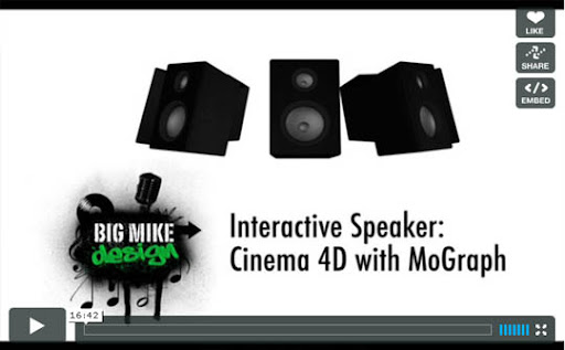 Interactive+Speaker+Tutorial Ultimate Round Up of Exceptional Cinema 4D Tutorials and Screencasts