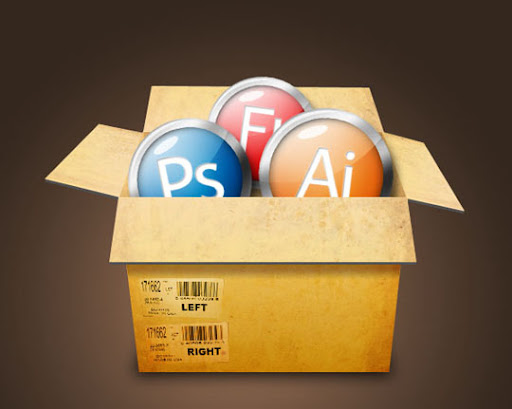 Create+a+Cardboard+Box+Filled+With+Glossy+Icons 75+ Fresh Photoshop Tutorials From 2010