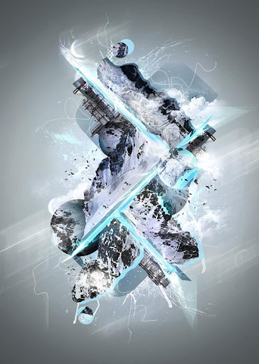 Make+a+Freezing+Cold+Snow themed+Abstract+Piece 75+ Fresh Photoshop Tutorials From 2010