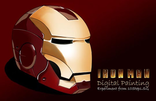 Paint+an+Iron+Man%E2%80%99s+Helmet+Digitally+in+Photoshop 75+ Fresh Photoshop Tutorials From 2010