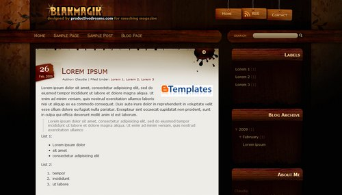 blak+magik+blogger+template Roundup Of Best Blogger Templates