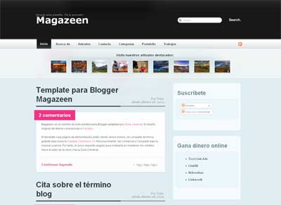 Blogger Magazeen Blogger template